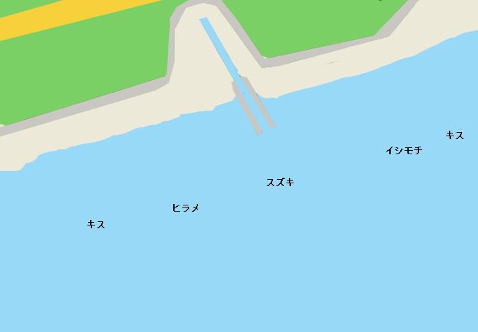 菱沼海岸ポイント図