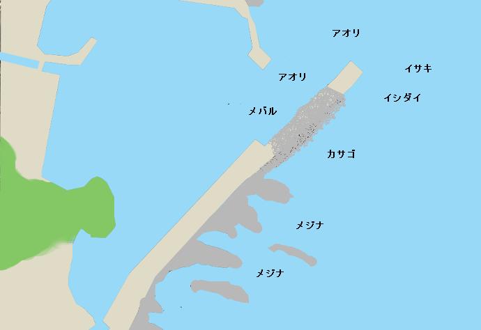 板戸港ポイント図