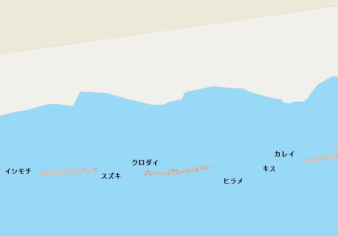 飯岡海岸ポイント図