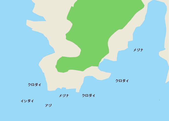 犬ヶ崎ポイント図
