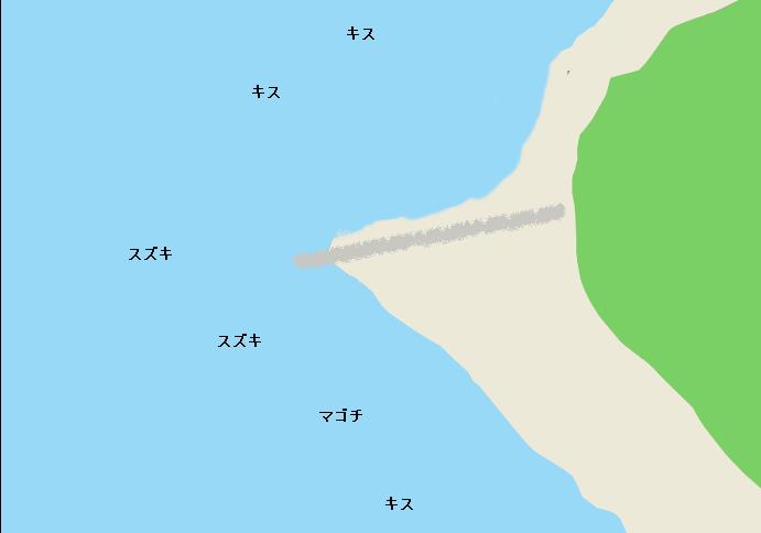 磯根崎海岸ポイント図