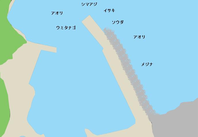 板見港ポイント図