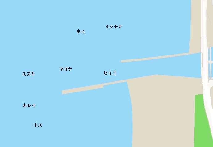 岩瀬川河口ポイント図