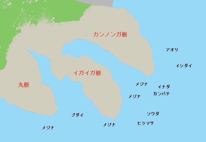 城ヶ崎イガイガ根・カンノンガ根のポイント