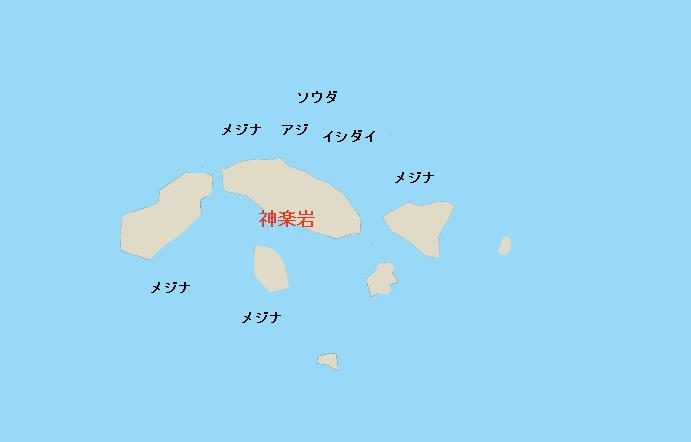 多賀沖磯神楽岩ポイント図