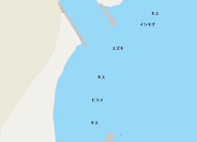 前原海岸ポイント図