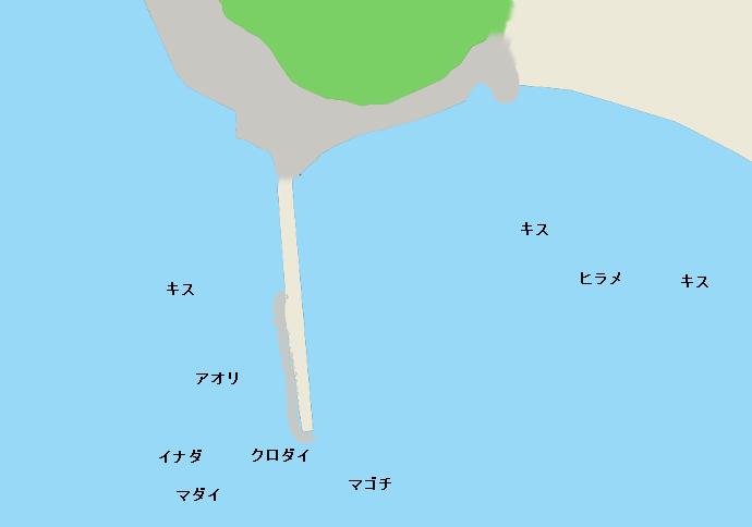 丸山堤防ポイント図