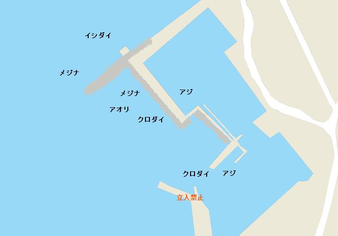 布良港ポイント図