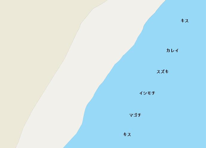成東海岸ポイント図