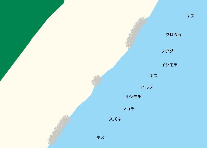 大浜海岸ポイント図
