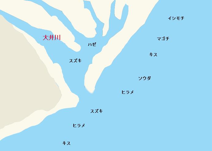 大井川河口ポイント図