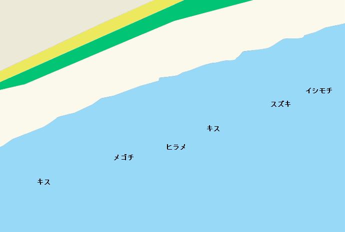 大磯東海岸ポイント図
