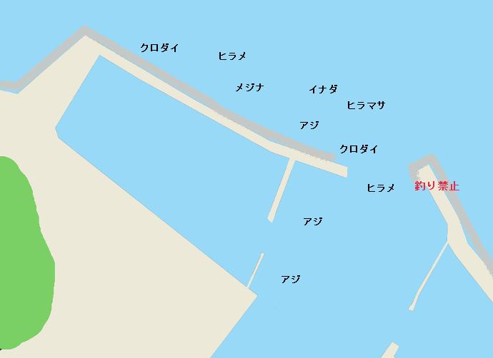 新官港ポイント図