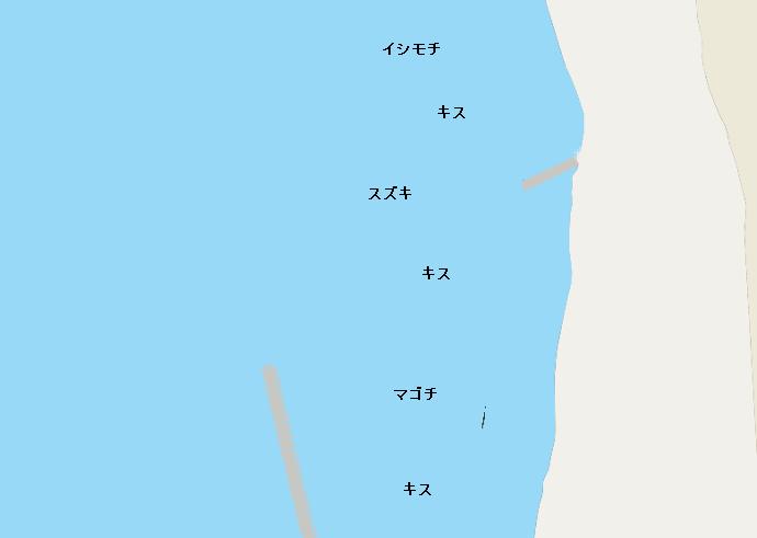 新舞子海岸ポイント図