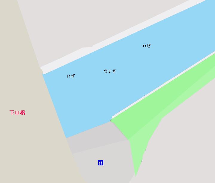 下山川下山橋周辺のポイント