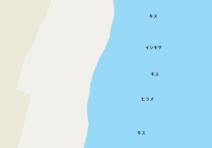 剃金海岸ポイント図