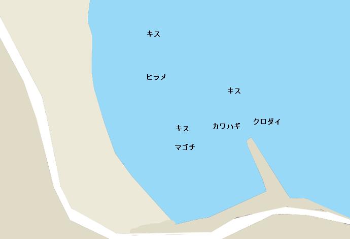 外浦海岸ポイント図