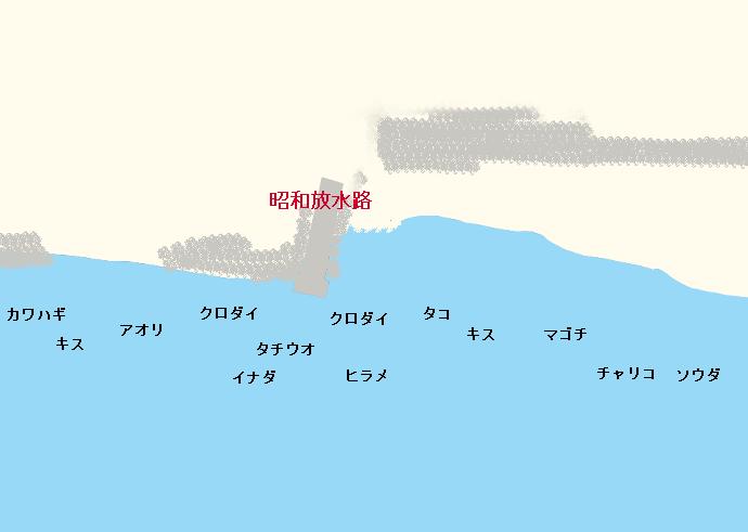 昭和放水路ポイント図