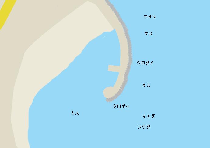 多賀新堤防ポイント図