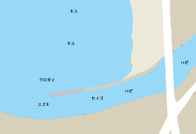 田越川河口ポイント図