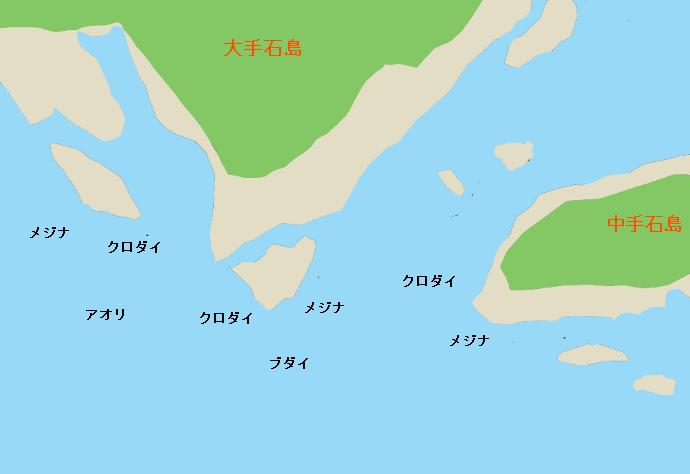 手石島ポイント図