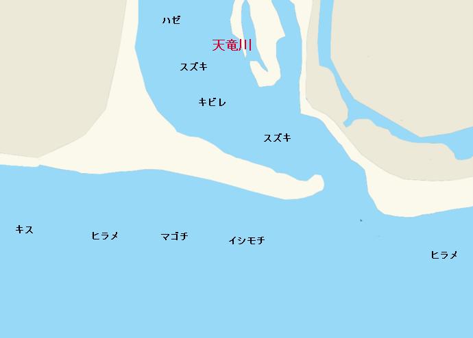 天竜川河口のポイント