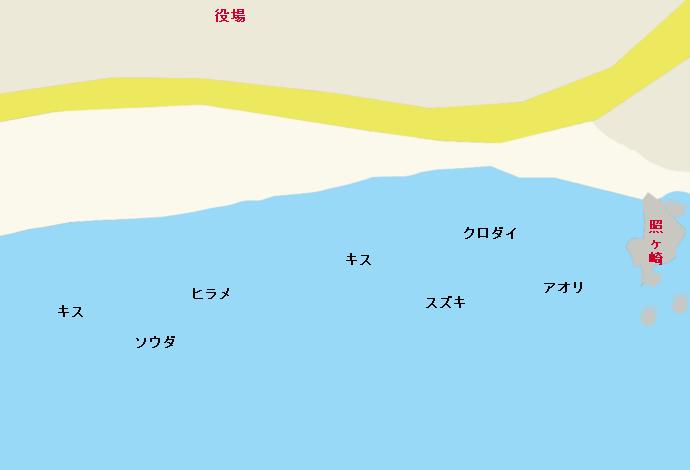 照ヶ崎海岸ポイント図