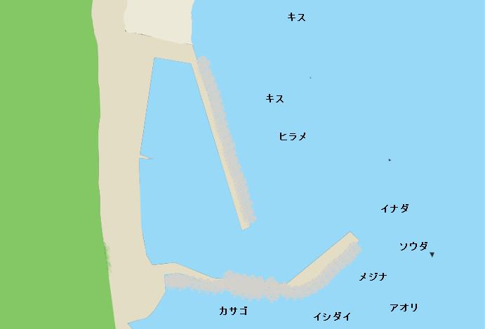 田牛港ポイント図
