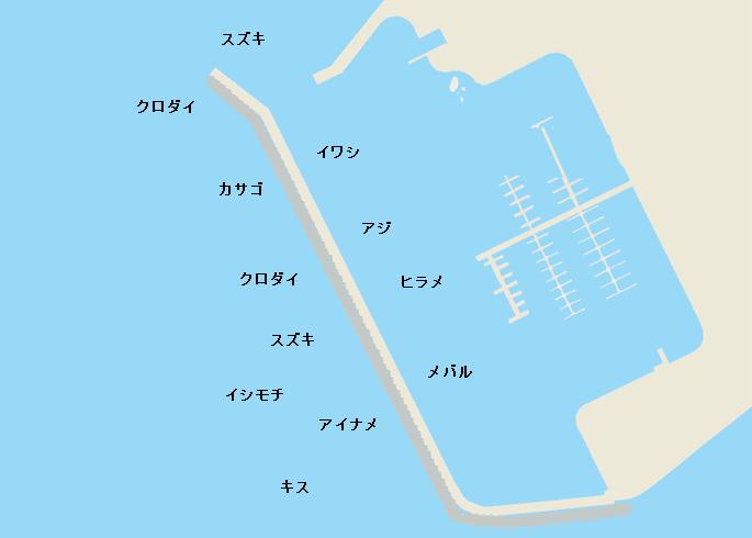 銚子マリーナポイント図