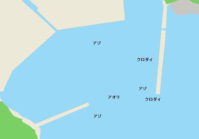 吉尾港ポイント図