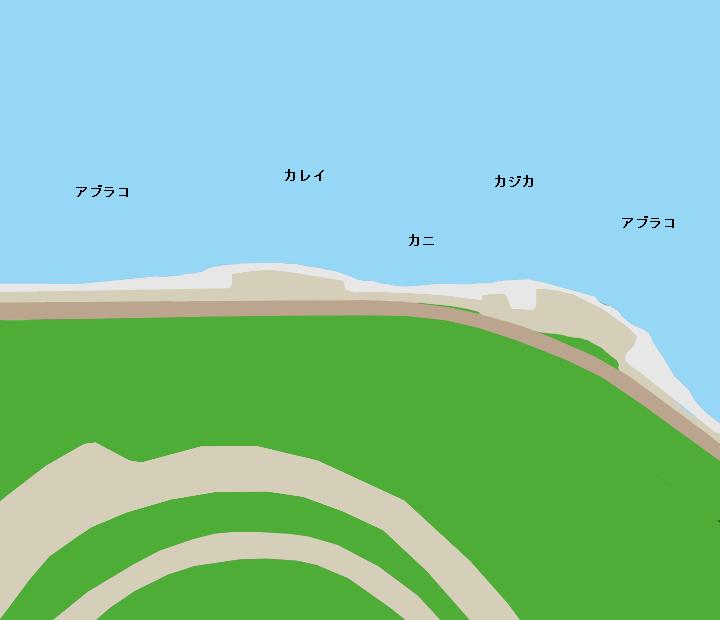 朝里海岸ポイント図