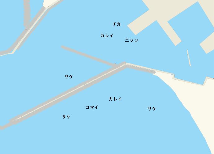 抜海漁港ポイント図