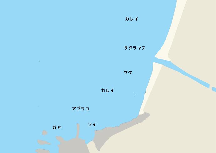 毘砂別海岸ポイント図