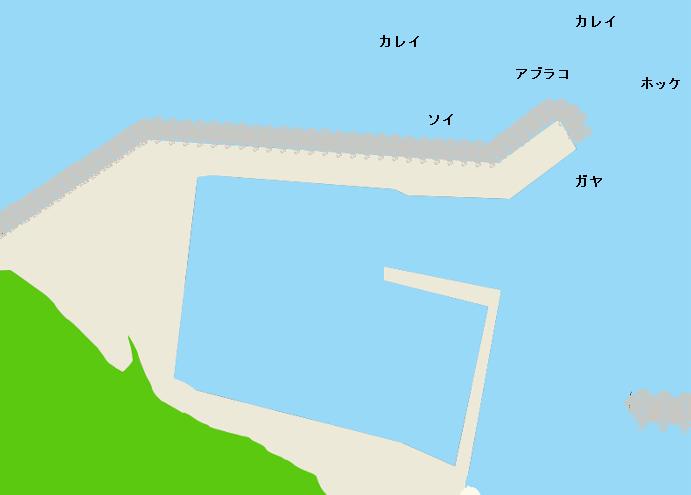 出足平漁港ポイント図