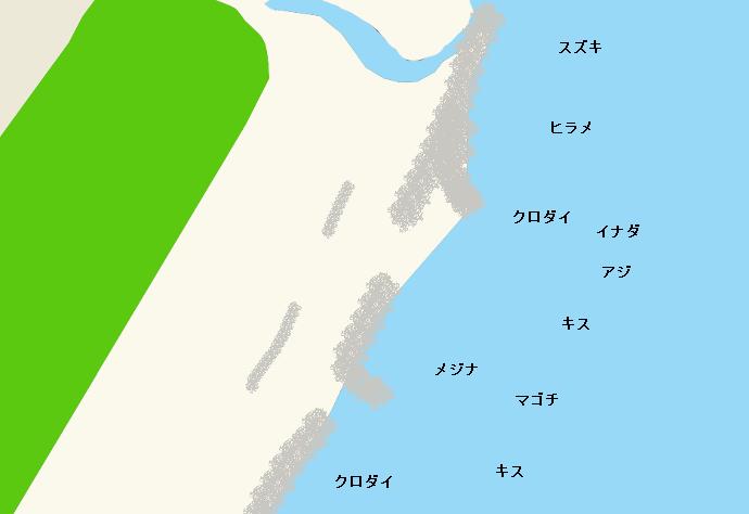 藤守海岸ポイント図