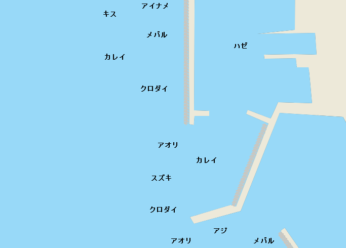 榎戸漁港のポイント