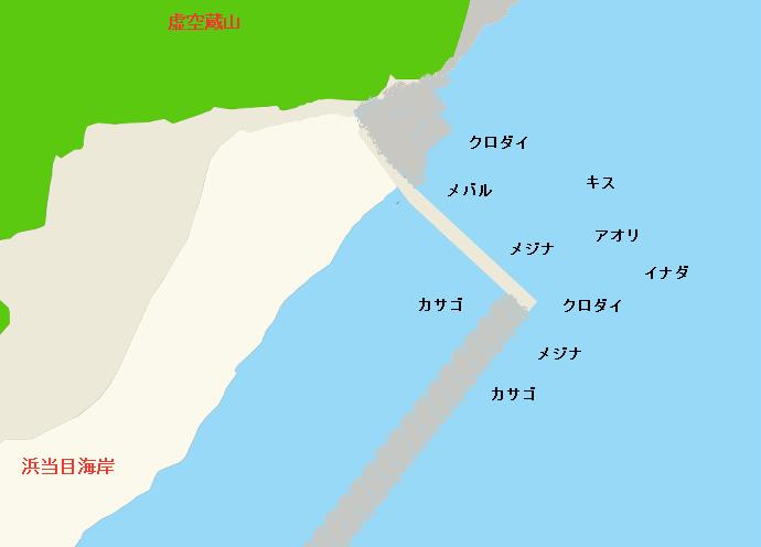 浜当目海岸ポイント図