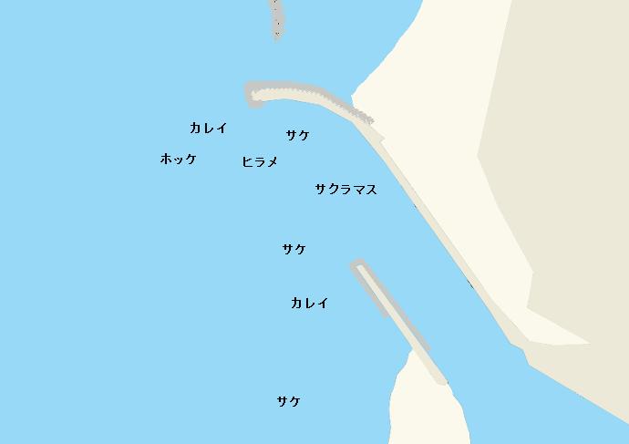 浜益川河口ポイント図