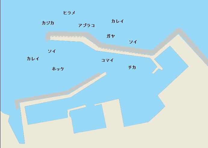 浜益漁港のポイント