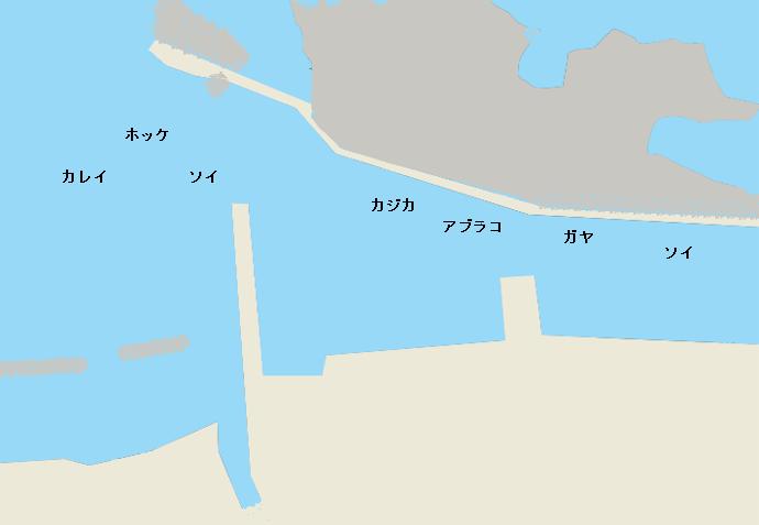 日司漁港ポイント図
