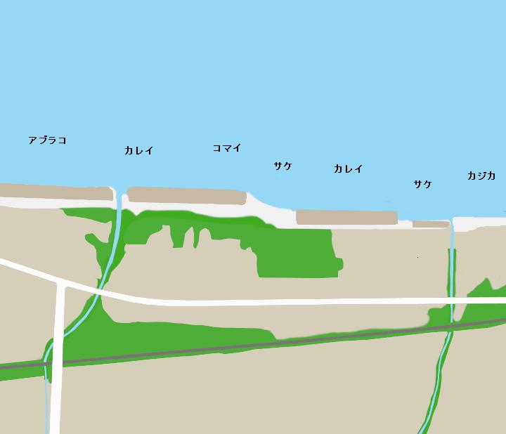 糸井海岸ポイント図