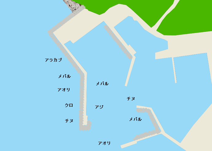 岩屋漁港のポイント