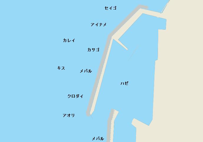 鬼崎漁港ポイント図