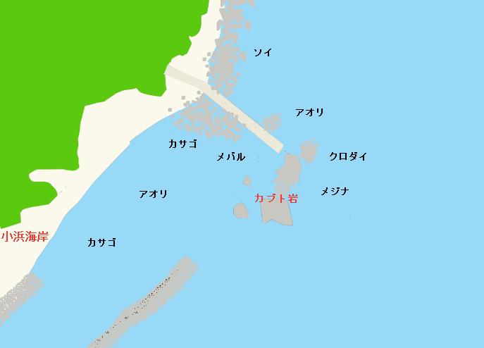 カブト岩・小浜海岸のポイント