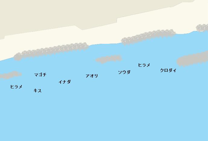 蒲原海岸ポイント図