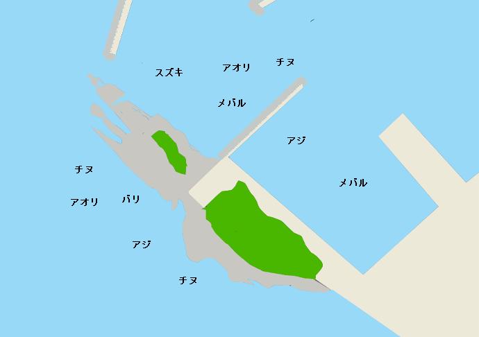 柏原漁港のポイント