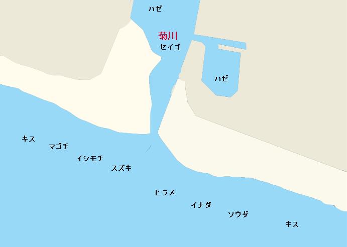 菊川河口ポイント図