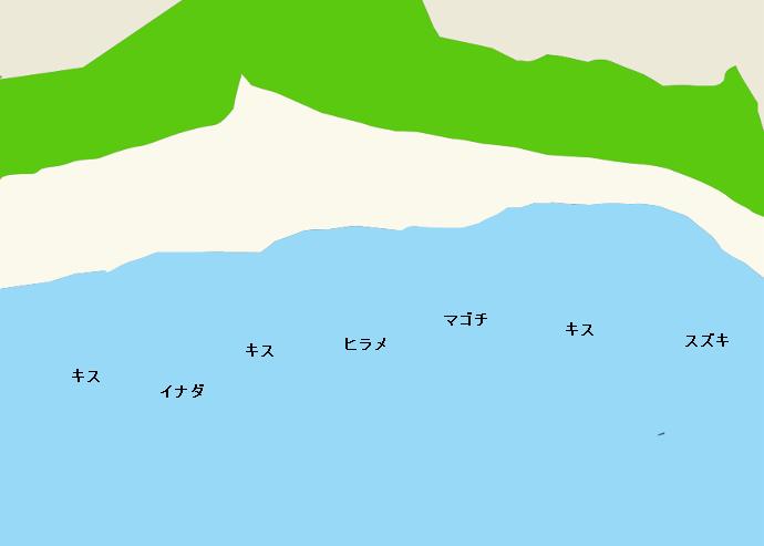 小塩津海岸ポイント図