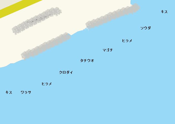 久能海岸ポイント図