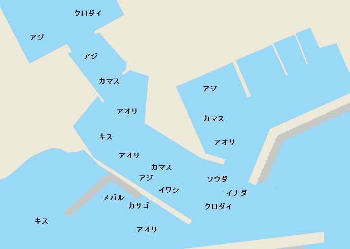 用宗港ポイント図